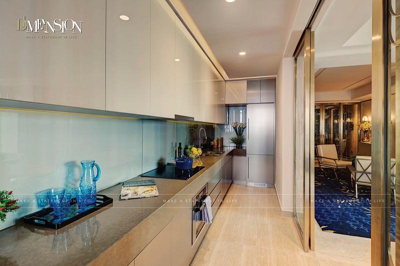 Phòng bếp dự án căn hộ cao cấp D1 Mension Võ Văn Kiệt, Quận 1, TP.HCM