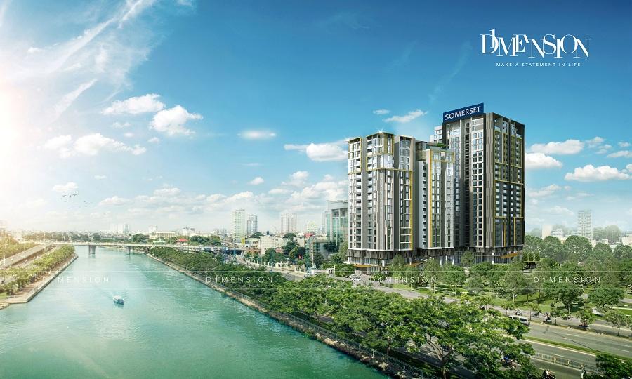 Phối cảnh tổng thể dự án căn hộ cao cấp D1 Mension CapitaLand Võ Văn Kiệt