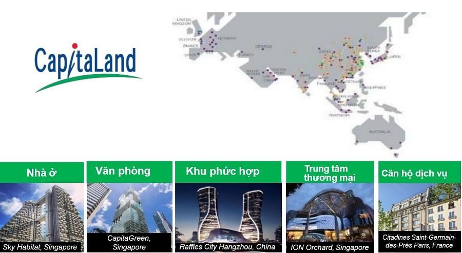 Lĩnh vực hoạt động của chủ đầu tư CapitaLand