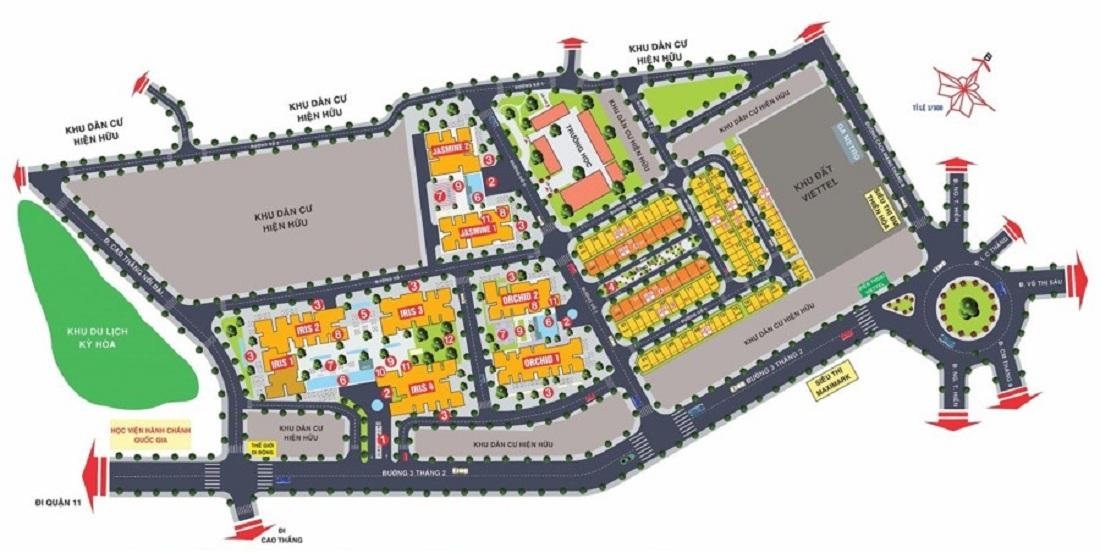Mặt bằng tổng thể của dự án Hà Đô Centrosa
