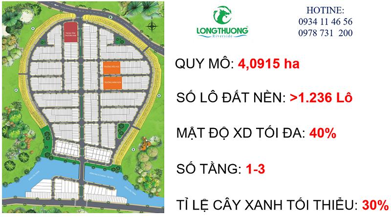 Quy mô diện tích dự án Long Thượng Riverside Long An gần chợ Bình Chánh