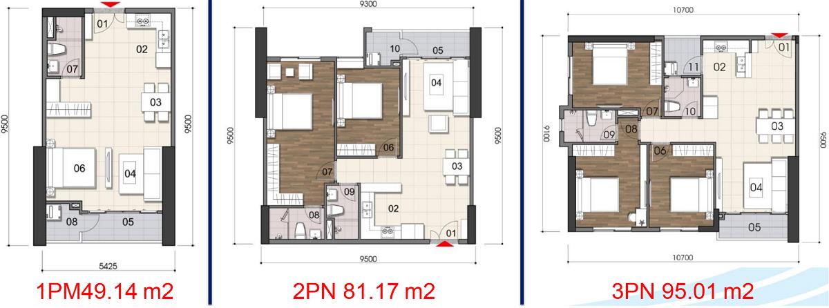 Thiết kế căn hộ 1-3PN