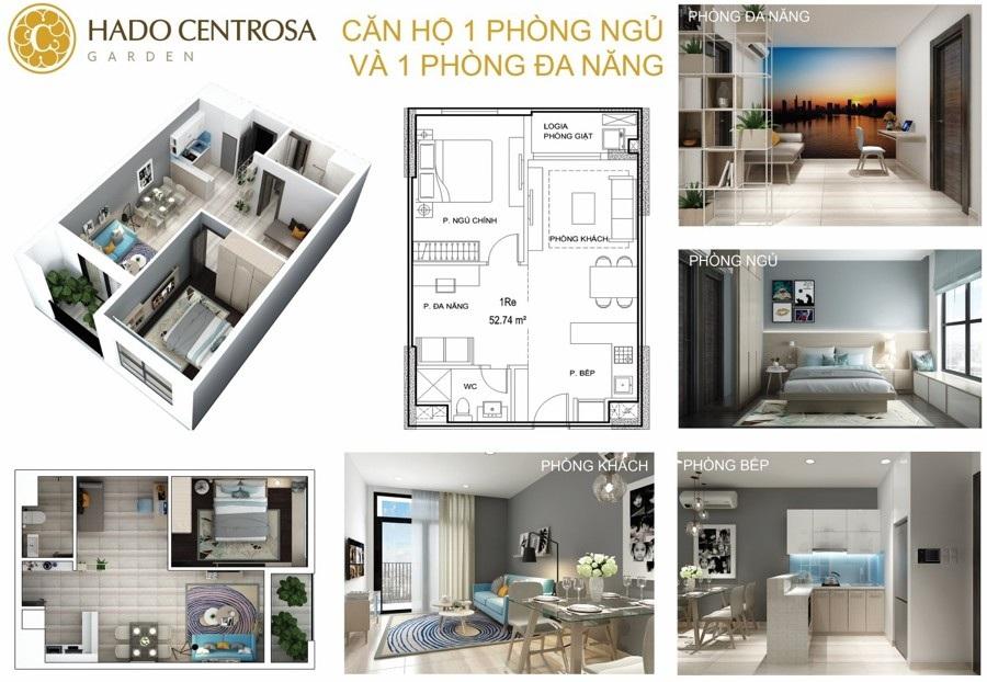 Thiết kế căn hộ 1 PN
