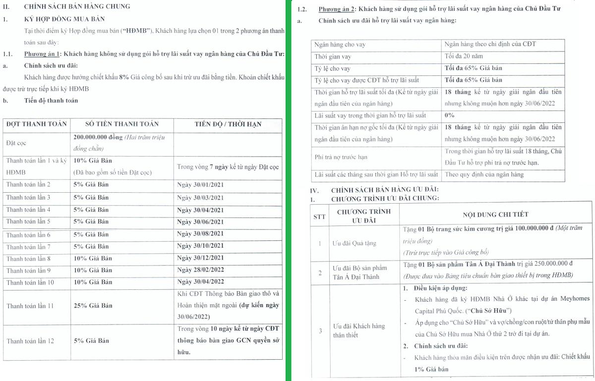 chinh sach ban hang rosada - meyhomes capital phu quoc