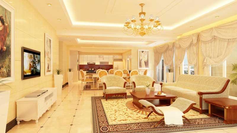 Hình ảnh phòng khách căn hộ Lancaster 230 Nguyễn Trãi