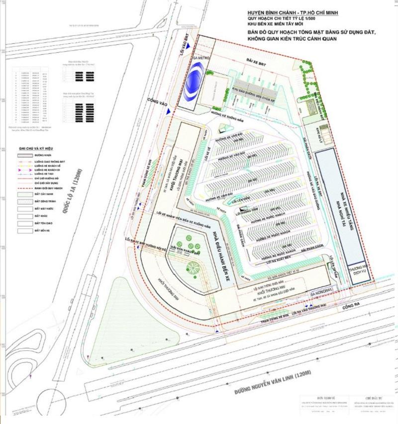 Quy hoạch Bến Xe Miền Tây Mới (ngã 4 Nguyễn Văn Linh và QL 1A)