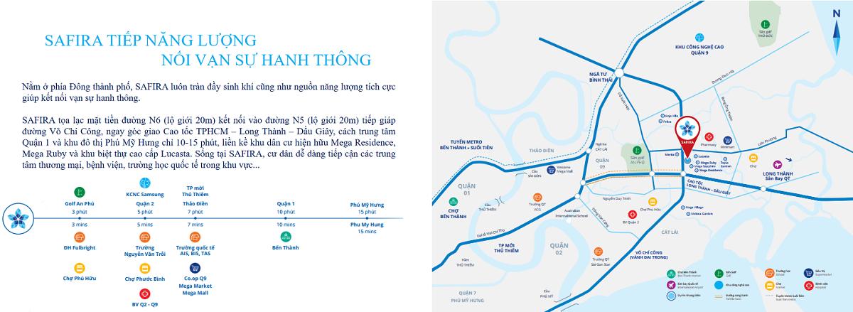 Vị trí dự án căn hộ Safira Khang điền Quận 9